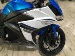 Электромотоцикл синего цвета, мощность 3,5 и 8 киловат. Электромотоциклы Elwinn EM-120