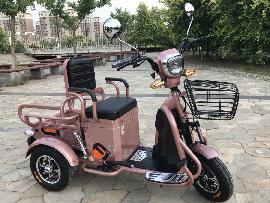 Електричний триколісний скутер з багажником Elwinn ETB-126