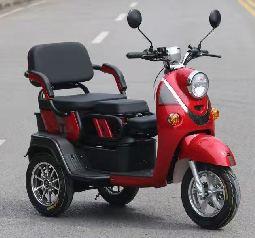 Електричний триколісний скутер червоний