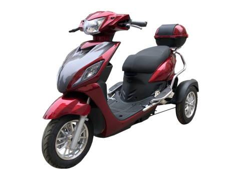 Трицикл электрический двухместный купить в Украине Elwinn EM-2101 вид сбоку